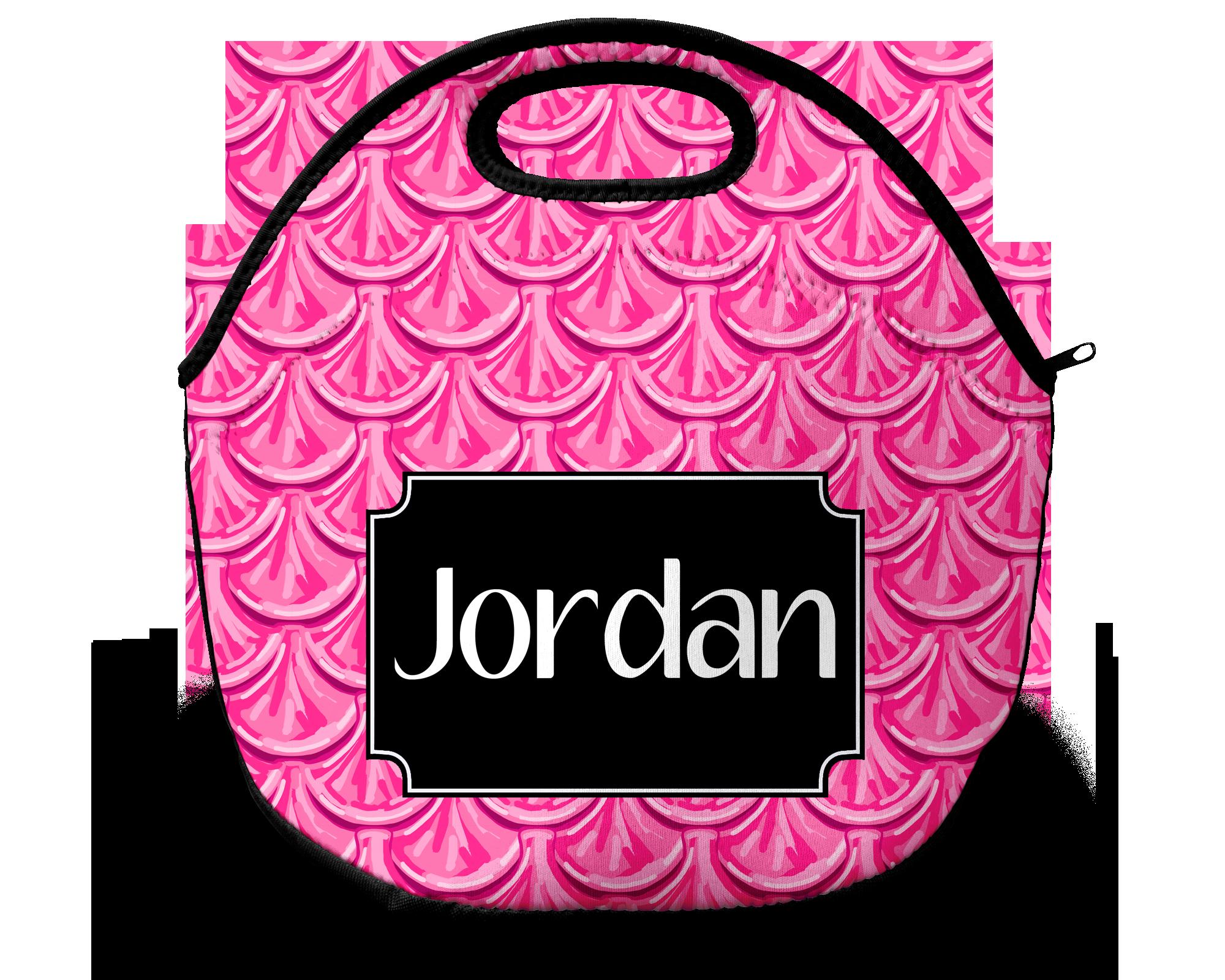 Monogram Lunch Bag Mermaid Scales Pink Sassy Southern Gals