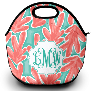 coral lunch tote png