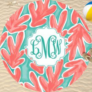 round beach towel mock up 24