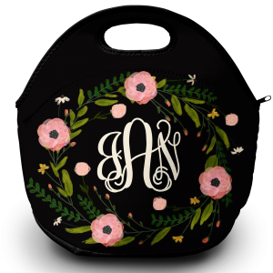 wreath lunch tote png
