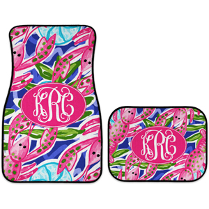 monogram car mats lobster love