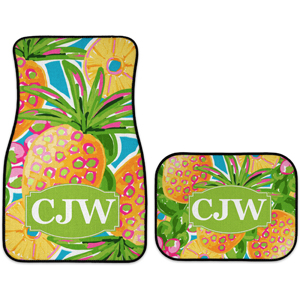 monogram car mats pineapple