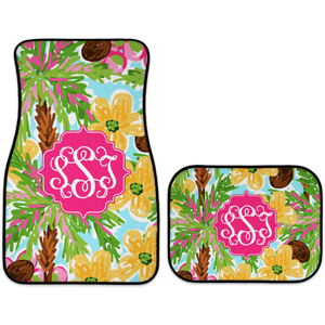 monogram car mats shady palms