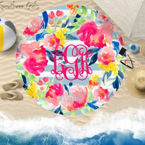 round beach towel mock up 1