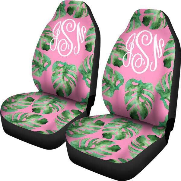Groovy Palm Leaf Car Seat Cover For Car Monogrammed Car Caraccident5 Cool Chair Designs And Ideas Caraccident5Info