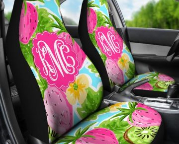 Monogrammed Car Seat Covers Strawberry Breeze Sassy Southern Gals