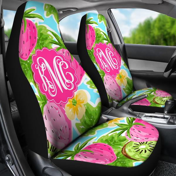 Monogrammed Car Seat Covers Strawberry Breeze Sassy