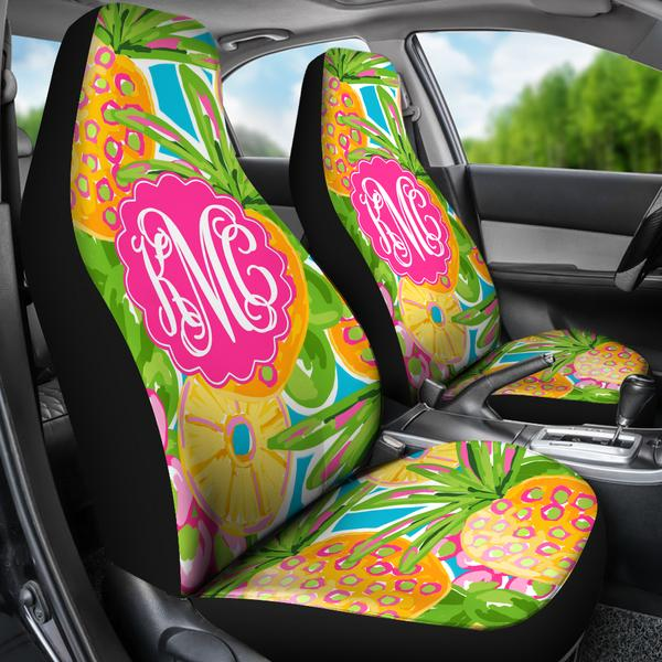 Pineapple Car Seat Covers